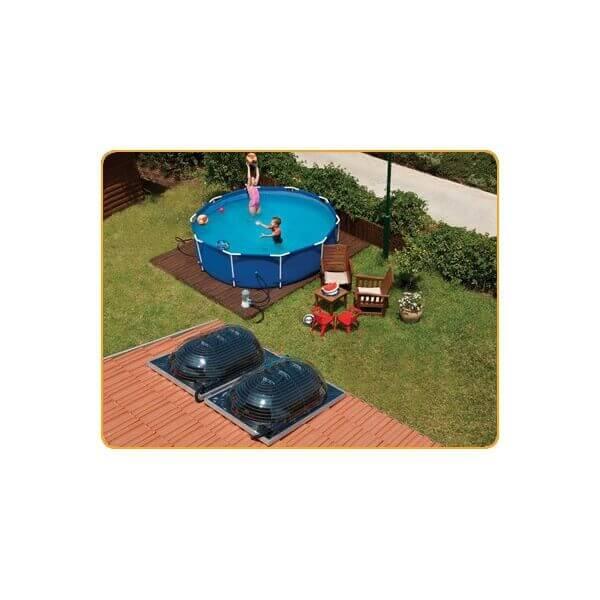Chauffage solaire pour piscine d me solaire aquadome for Chauffage piscine solaire