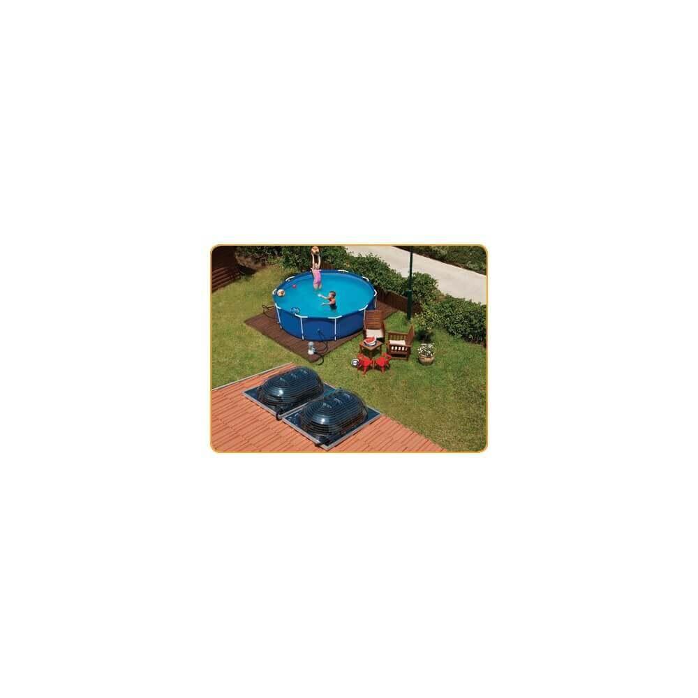 Chauffage solaire pour piscine d me solaire aquadome for Chauffage solaire piscine