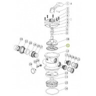 Pièce N°11 - Joint étoile rotor/vanne pour groupe de filtration ACIS VIPool-Pièces détachées
