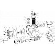 Flasque pompe - Pièce n°16 - ACIS VIPool MCB mono-Marques