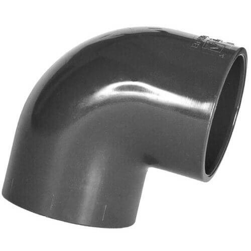 Coude PVC 90° à coller Ø 75 mm-Plomberie