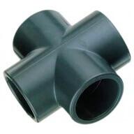 Croix PVC à coller Ø 75 mm-Plomberie