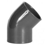 Coude PVC 45° à coller Ø 50 mm-Plomberie