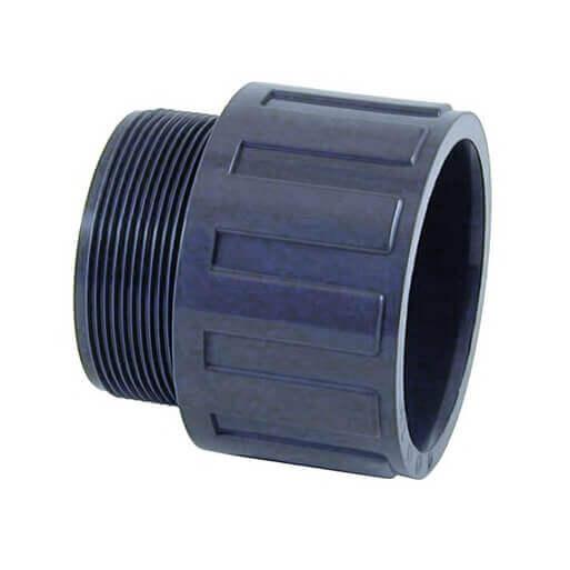 Embout filet 50 mm x 1 pour piscine mypiscine - Raccord pvc filete ...