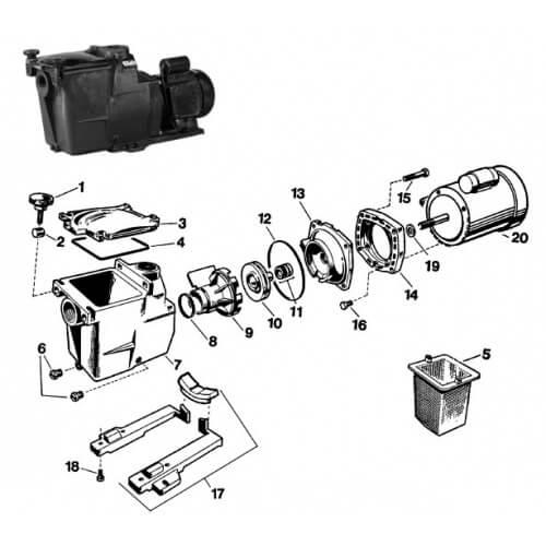pompe super pump 0 75 cv sortie 1 5
