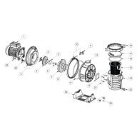 n°20 - Vis + rondelle pied de pompe PPE Ultraflow-Pièces détachées