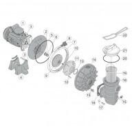 n°2 - Plateau d'etanchéité + garniture mécanique PPE S5P2R-Pièces détachées