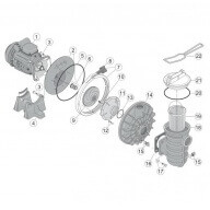 n°4 - Pied de pompe PPE (5P2R, S5P2R) - 0,25 à 0,55Kw-Pièces détachées