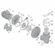 n°8 - Molette de serrage pour colier RC1937A filtre SAB/PPE-Pièces détachées