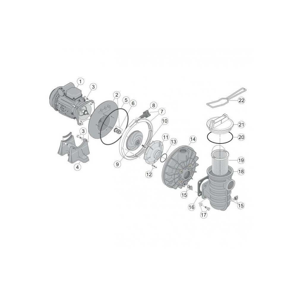 Corps de pompe ppe sta rite 5p2r et s5p2r mypiscine - Pieces detachees pompe piscine ...