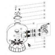 n°8 - Connection vanne/cuve-Pièces détachées