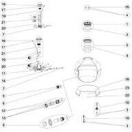 """n°7 - Crépines 1"""" 110mm (par 2) FSAB Vesubio/Aster/Atlas-Pièces détachées"""