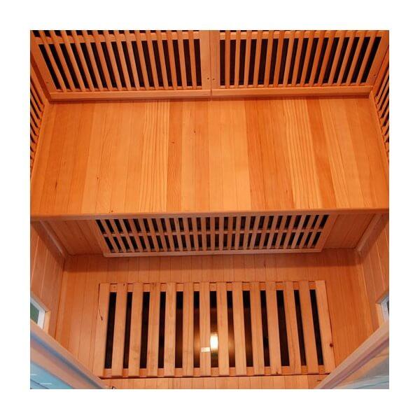 sauna infrarouge soleil blanc 2 places france sauna mypiscine. Black Bedroom Furniture Sets. Home Design Ideas