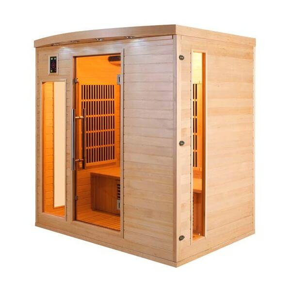 sauna infrarouge apollon 4 places france sauna mypiscine. Black Bedroom Furniture Sets. Home Design Ideas