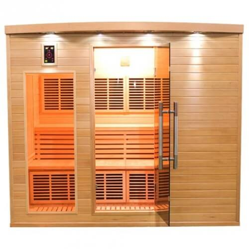 sauna infrarouge apollon 5 places france sauna mypiscine. Black Bedroom Furniture Sets. Home Design Ideas