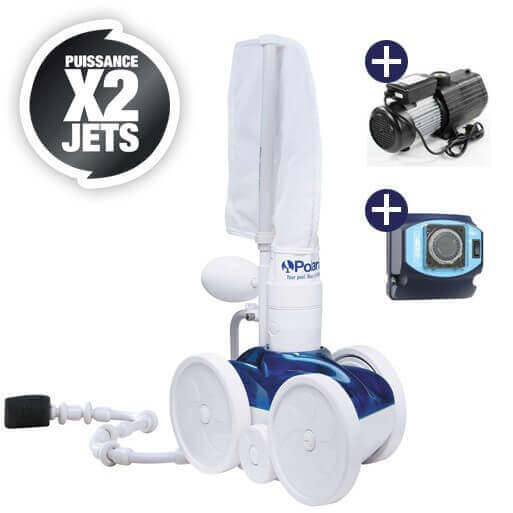 Pack robot de piscine polaris 280 surpresseur 1 cv for Robot piscine polaris 280