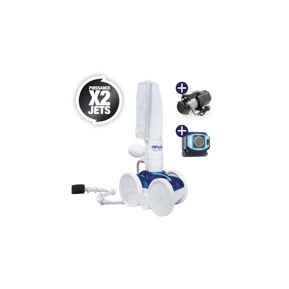 Pack robot de piscine polaris 280 surpresseur 1 cv for Polaris 280 surpresseur