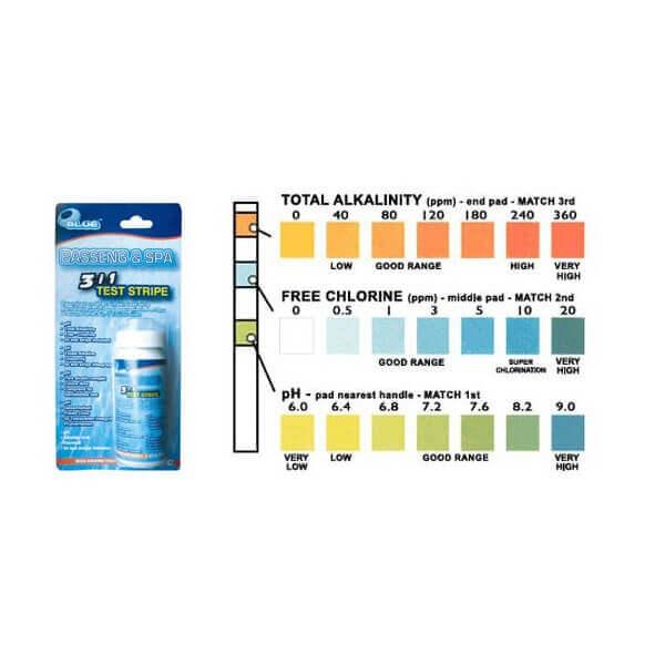 Testeur d 39 eau 3 en 1 pour spa mypiscine for Testeur ph piscine fiable