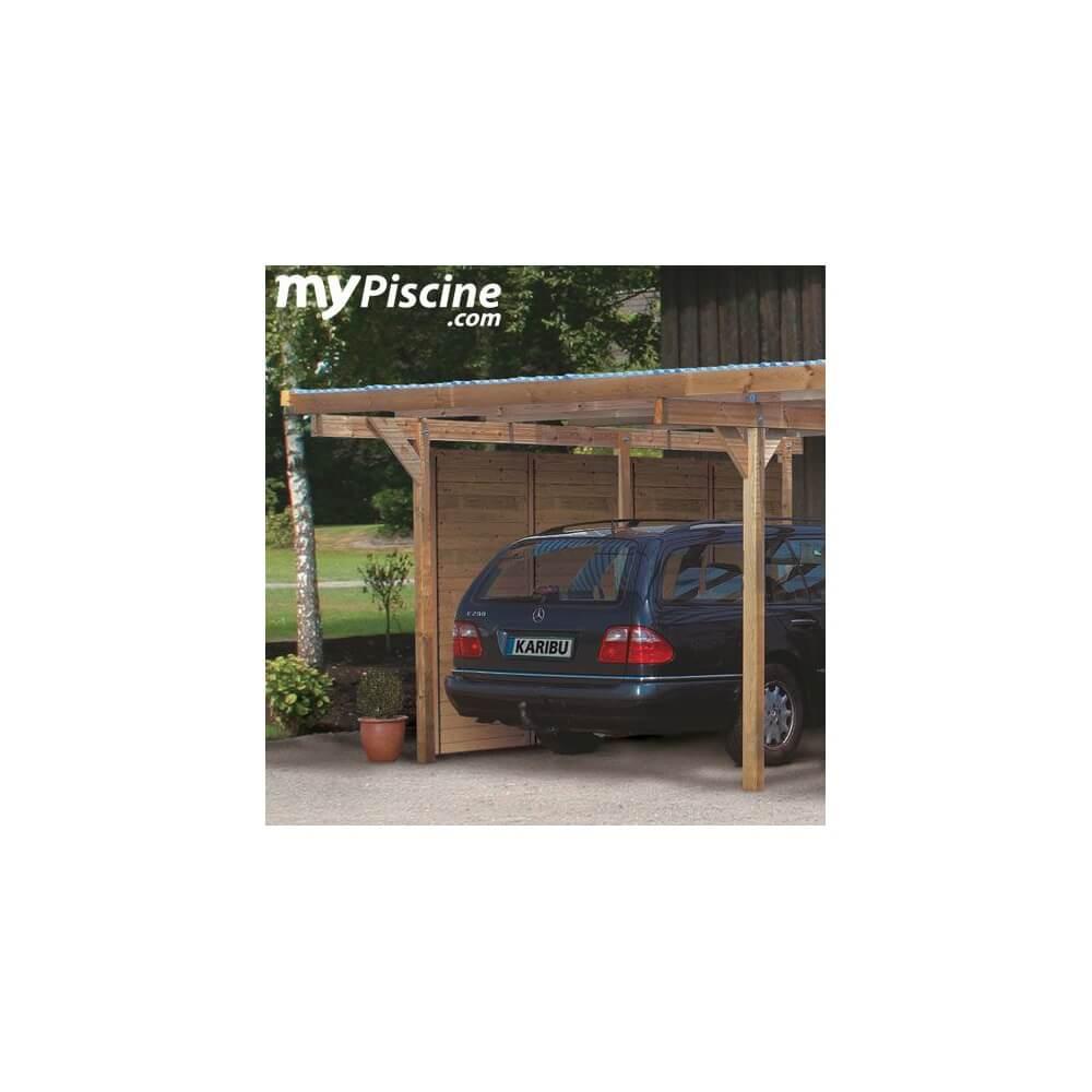 carport en bois double eco 1 variante a mypiscine