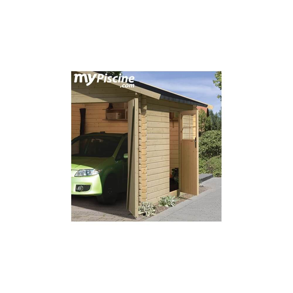 garage en bois 28 mm mypiscine. Black Bedroom Furniture Sets. Home Design Ideas
