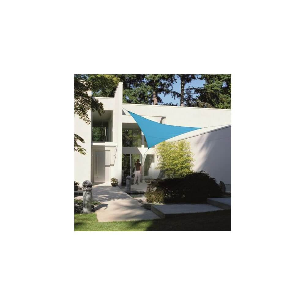 Voile d 39 ombrage triangulaire 5 m en polyester imperm able 200 g m mypiscine - Voile d ombrage triangulaire ikea ...