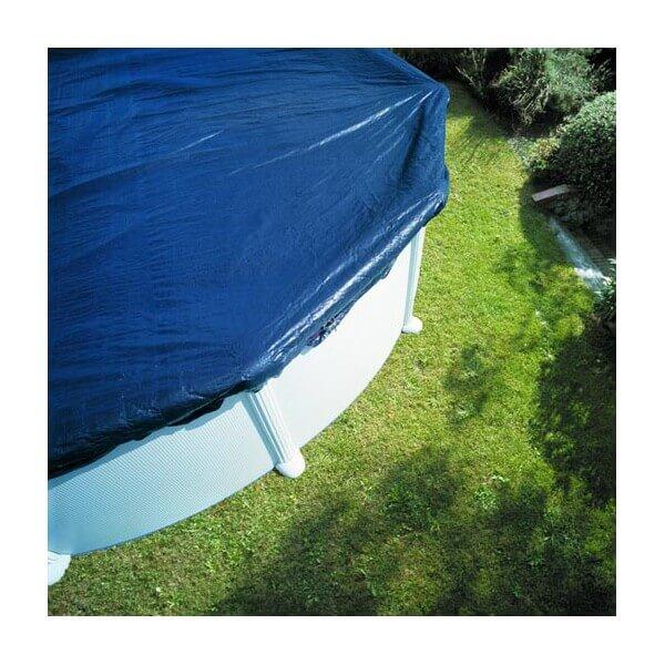 B che d 39 hivernage pour piscine hors sol ronde 550 cm gre for Bache pour piscine hors sol