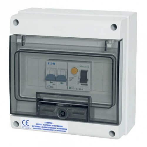 Coffret de protection 20 A pour pompe à chaleur de piscine