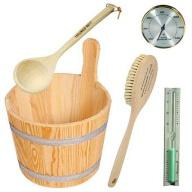 Pack d'accessoires en bois pour sauna