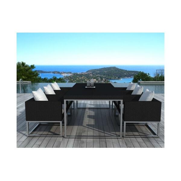 Table et chaises de jardin angel 6 places - Table et chaises de jardin en resine ...
