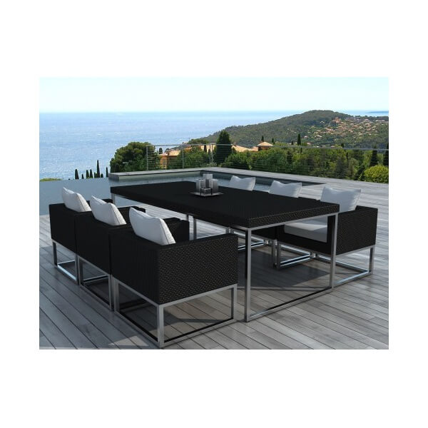table et chaises de jardin angel 6 places. Black Bedroom Furniture Sets. Home Design Ideas