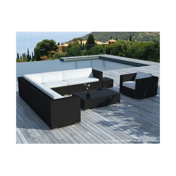 salon de jardin monaco 8 places mypiscine. Black Bedroom Furniture Sets. Home Design Ideas