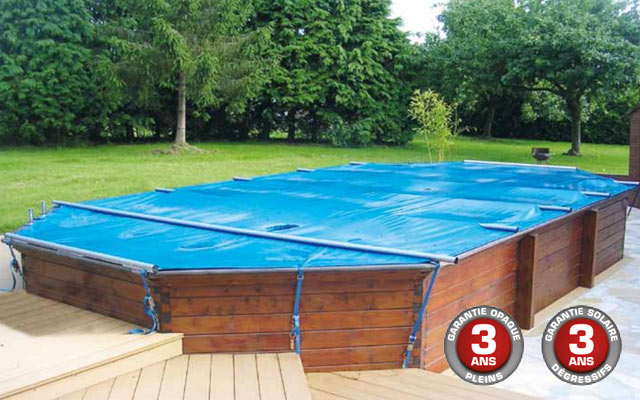 Woody la couverture barres 4 saisons pour piscines for Bache piscine sunbay