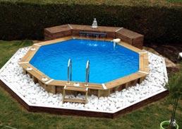 Guide d 39 achat piscine hors sol bois - Hivernage piscine bois semi enterree ...