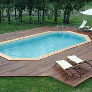 Piscine hors sol bois acier tubulaire livr e - Pompe d evacuation d eau pour couverture piscine hors sol ...