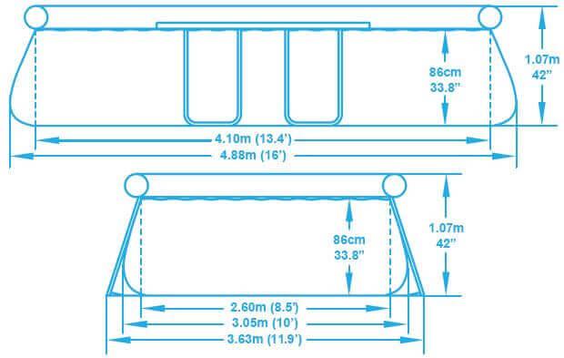 Piscine autoportante ovale 488 x 305 x h107 cm mypiscine for Dimension piscine