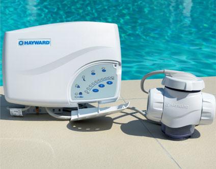Electrolyseur au sel Hayward Salt and Swim 3C pour piscine jusqu'à 75 m3
