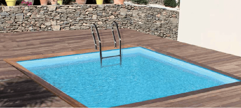 piscine bois sunbay carra 300 x 300 cm mypiscine. Black Bedroom Furniture Sets. Home Design Ideas