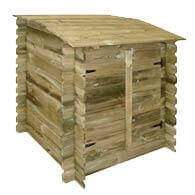 Coffre de filtration en bois piscine bois Ubbink