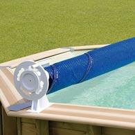 Enrouleur bâche à bulles piscine bois Ubbink