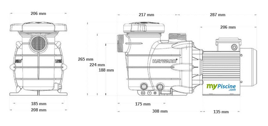 Powerline by Hayward/ /Pumpe Super Pump 1/CV Hayward