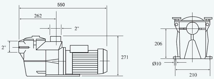 Dimensions pompe Kripsol KS50