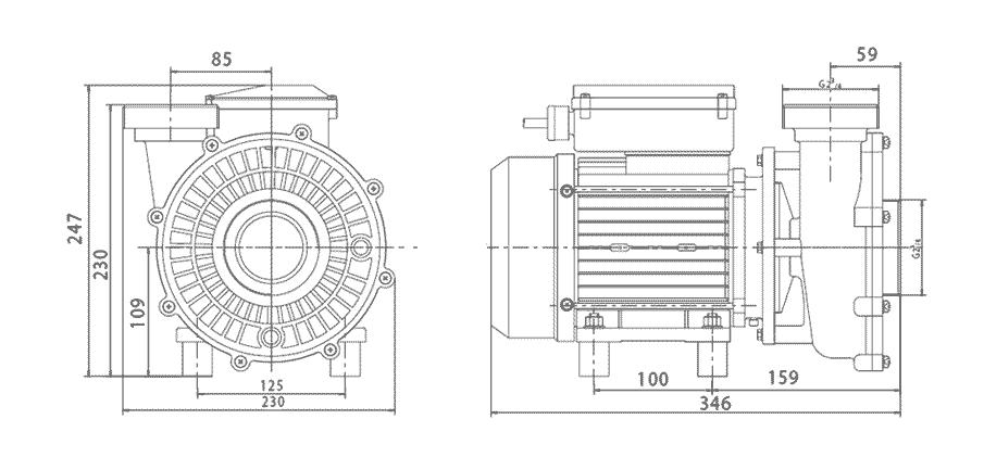Pompe Solubloc 20 compatible Desjoyaux P25