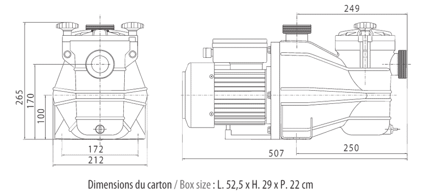 pompe de filtration vipool mcb triphas u00e9e 0 75 cv