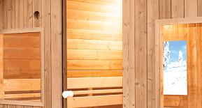 Sauna extérieur Barrel : Lumière traversante