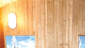Sauna extérieur Barrel : Lumière intérieure