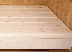 Sauna extérieur Barrel : Bois massif
