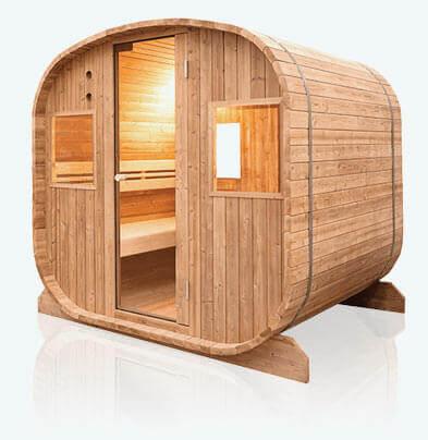 Sauna ext rieur barrel vapeur mypiscine - Cabine sauna exterieur ...