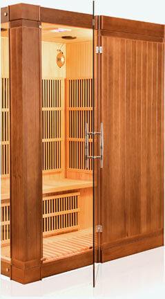 sauna infrarouge france sauna sol a 3 places mypiscine