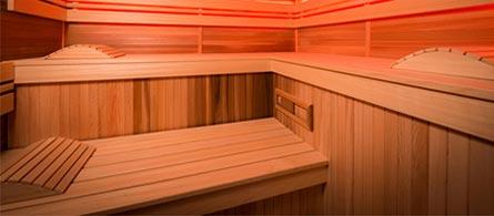 Intérieur sauna Holl's Eccolo
