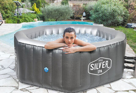 spa gonflable netspa silver 6 places mypiscine. Black Bedroom Furniture Sets. Home Design Ideas